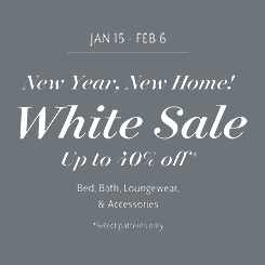 WHITE SALE up to 40% off | Shop Now While Supplies Last